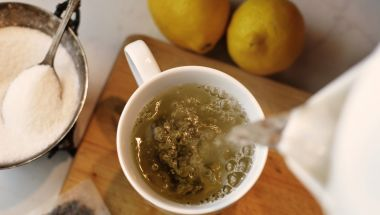 Recipe: Herbal Ginger Coconut Tea