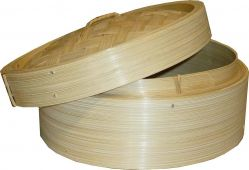 Bamboo Steamer with Lid 8' Diameter