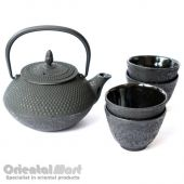 Black Cast Iron Tea Set (C1+C2)