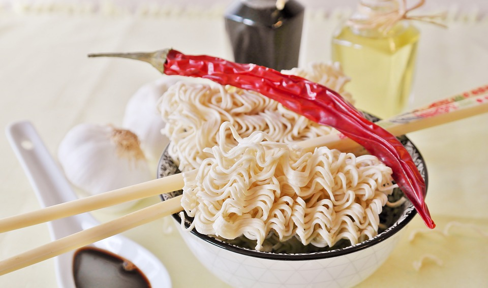 Example of Asian noodles